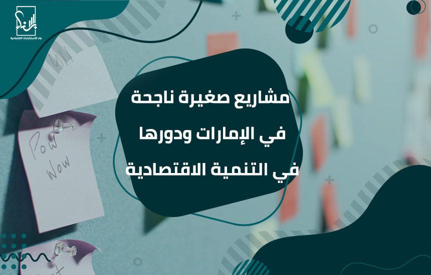 صغيرة ناجحة في الإمارات ودورها في التنمية الاقتصادية 860x550 - مشاريع صغيرة ناجحة في الإمارات ودورها في التنمية الاقتصادية