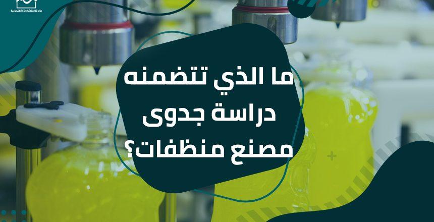 ما الذي تتضمنه دراسة جدوى مصنع منظفات؟
