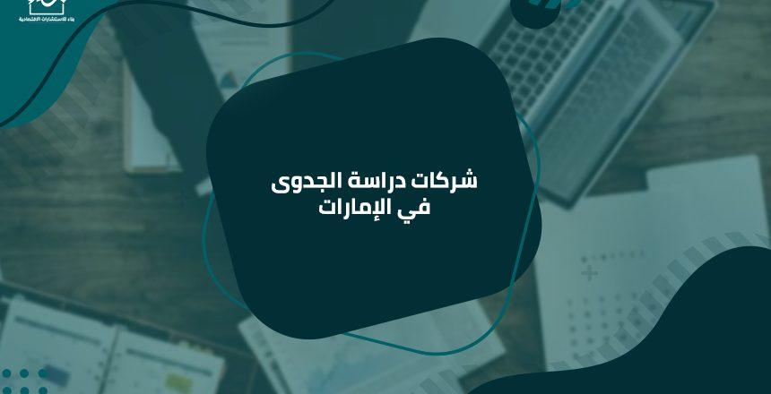 شركات دراسة الجدوى في الإمارات