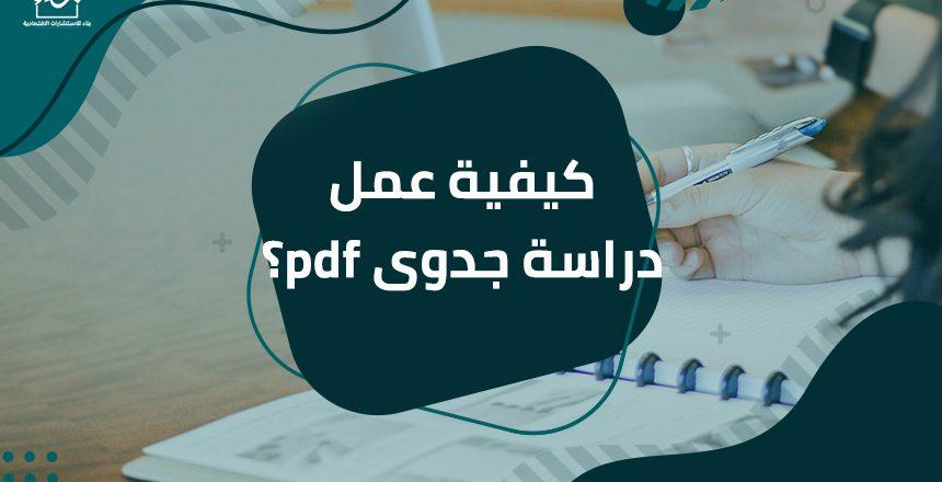 كيفية عمل دراسة جدوى pdf؟