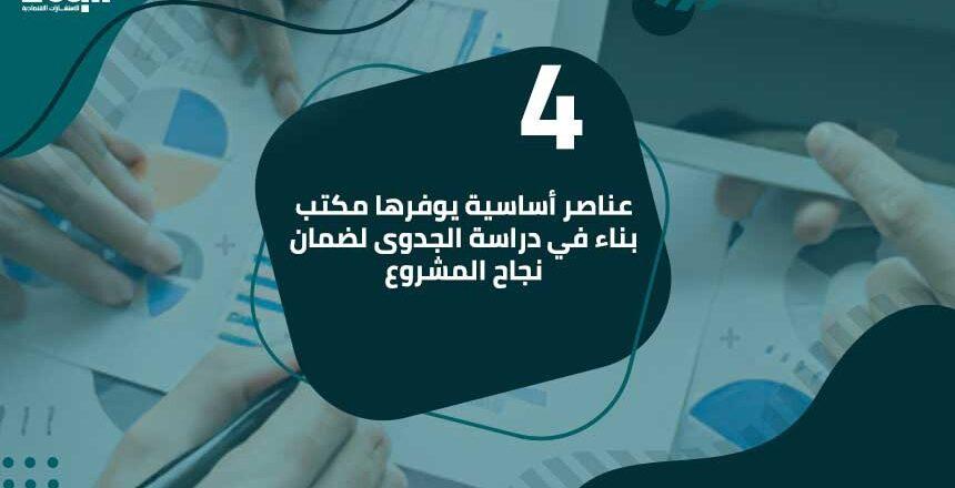 4 عناصر أساسية يوفرها مكتب بناء في دراسة الجدوى لضمان نجاح المشروع
