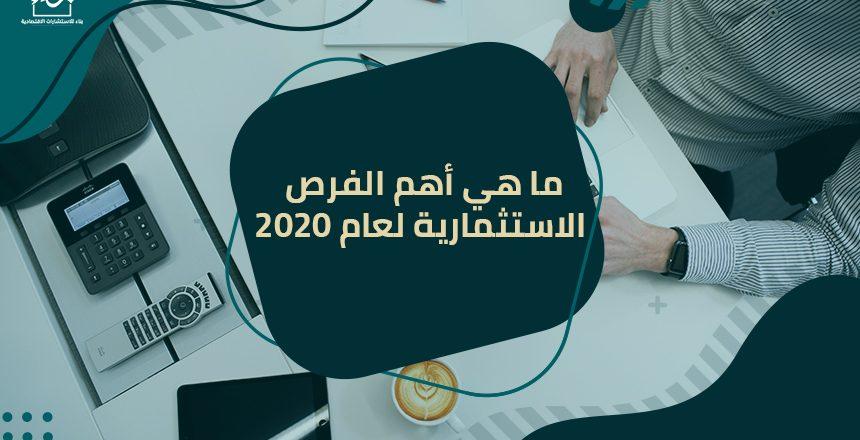 ما هي أهم الفرص الاستثمارية لعام 2020